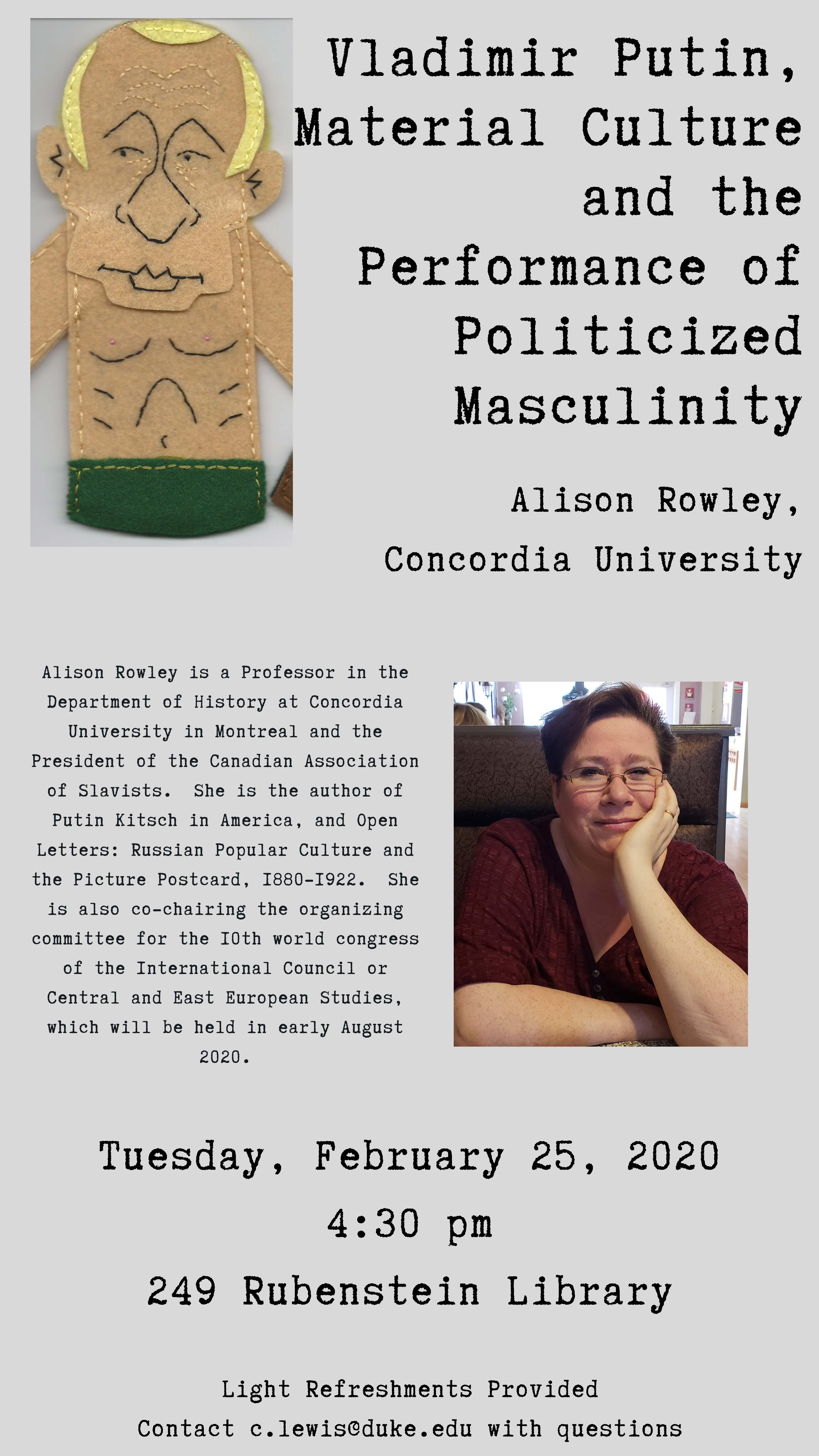 Alison Rowley flyer