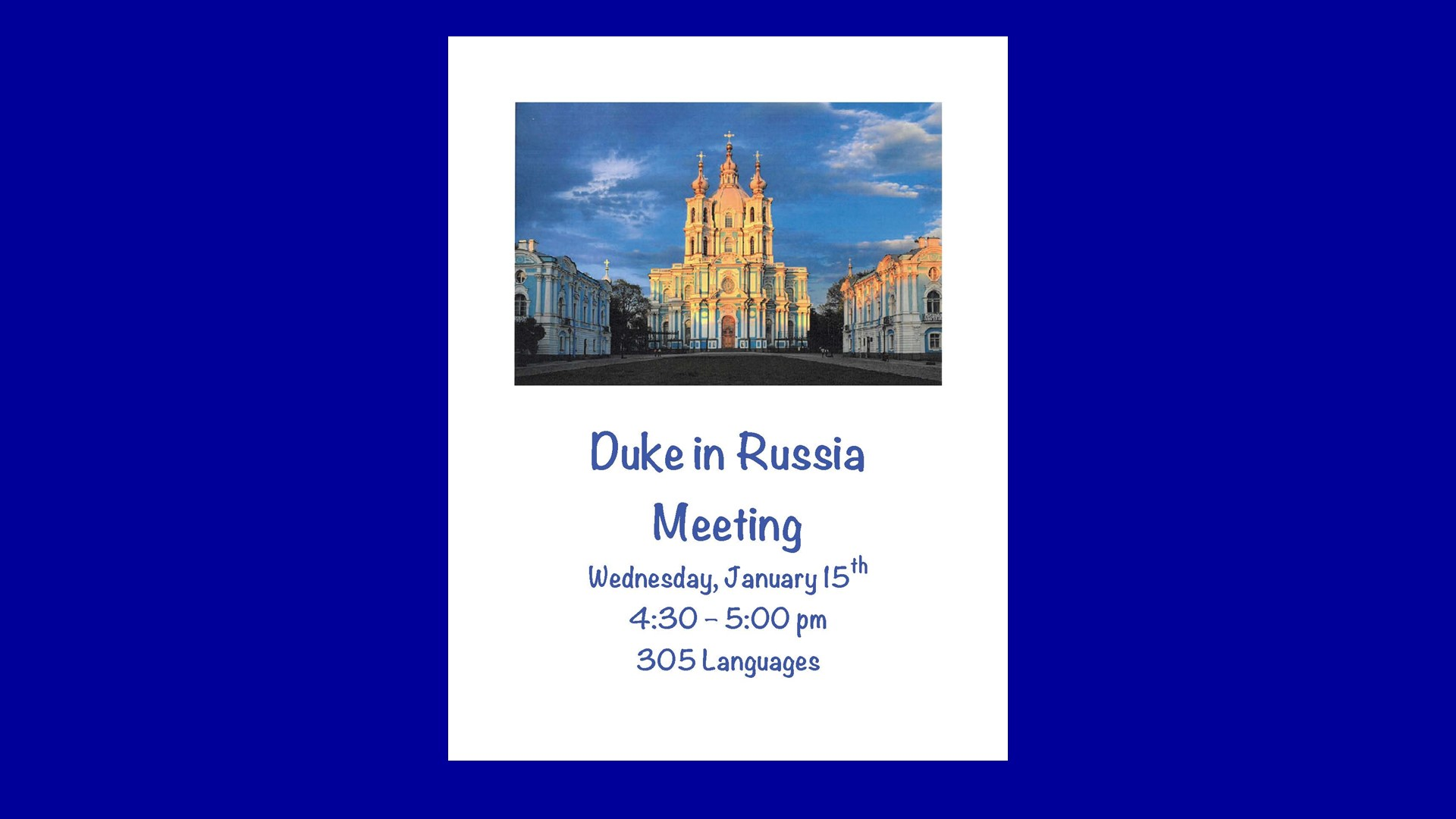 Duke in Russia image