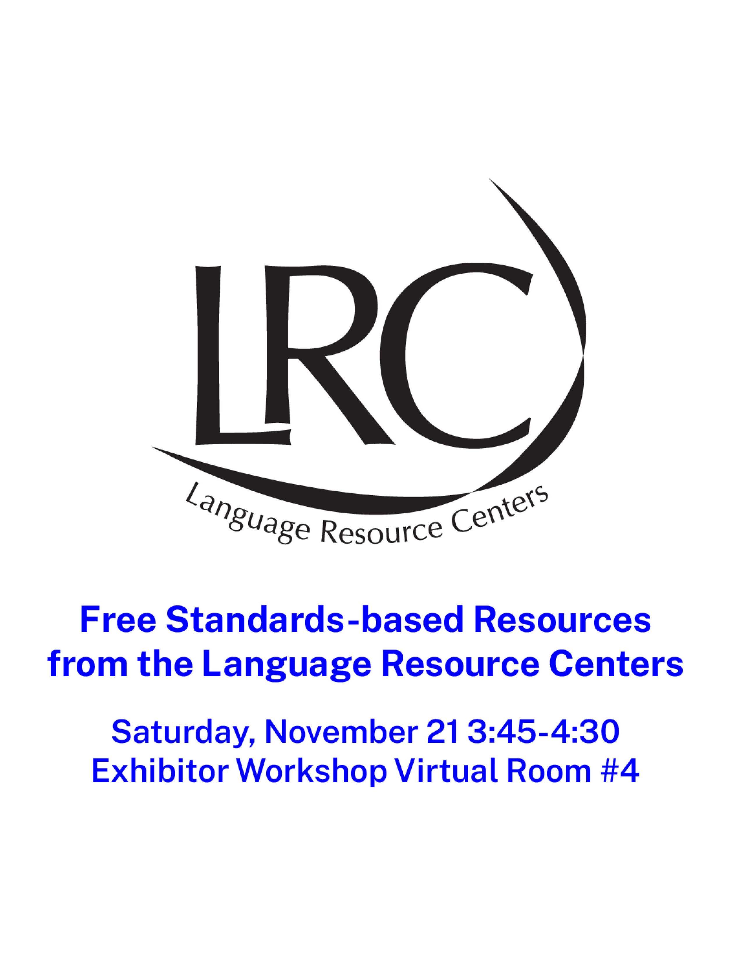 LRC session 2020 Flyer ACTFL