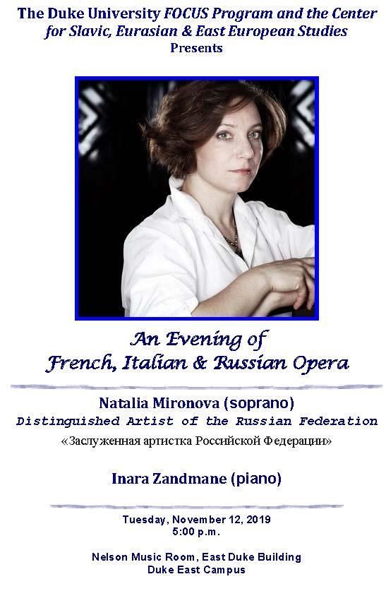 An Evening of French, Italian & Russian Opera