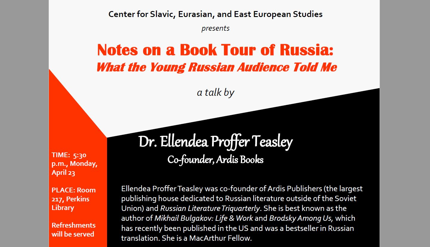 Notes on a Book Tour of Russia: What the Young Russian Audience Told